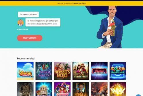 agent spinner casino free spins & bonus
