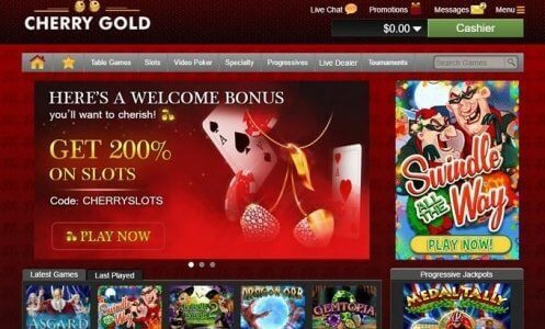 cherry gold casino free spins & bonus