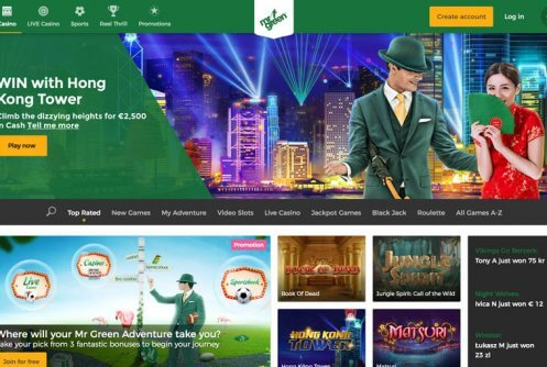 mr green casino free spins & bonus