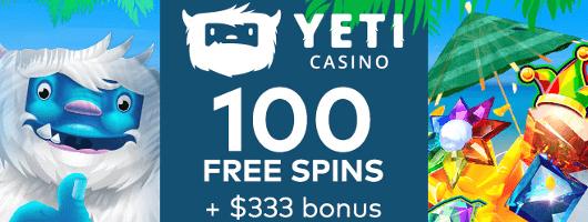 yeti casino free spins & bonus