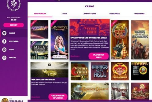 frank and fred casino bonus