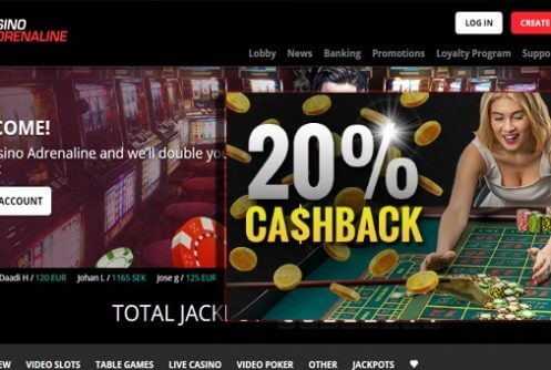 casino adrenaline free spins