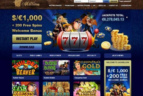 jackmillion free spins