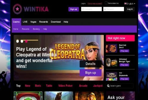 Wintika Casino Review | No Deposit Free Spins +Bonus |