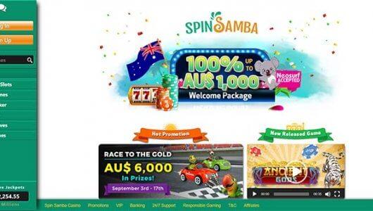 spin samba casino bonus