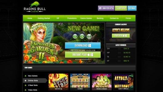 raging bull casino free chip