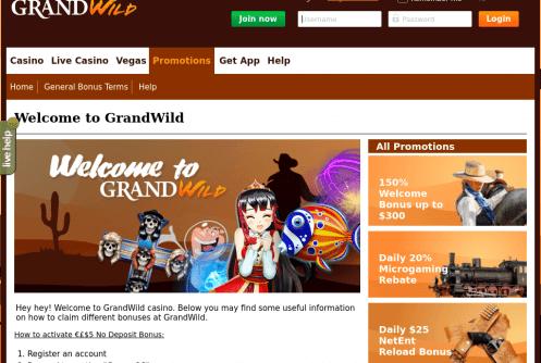 grandwild free spins and bonus