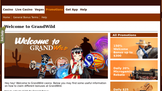 grandwild free spins and bonus
