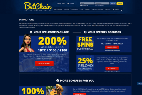 betchain casino free spins and bonus