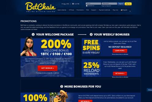 betchain casino free spins and bonus