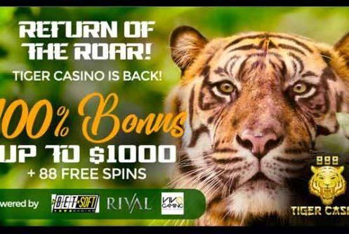 888 tiger casino free spins