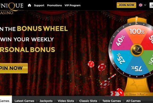 unique casino bonus