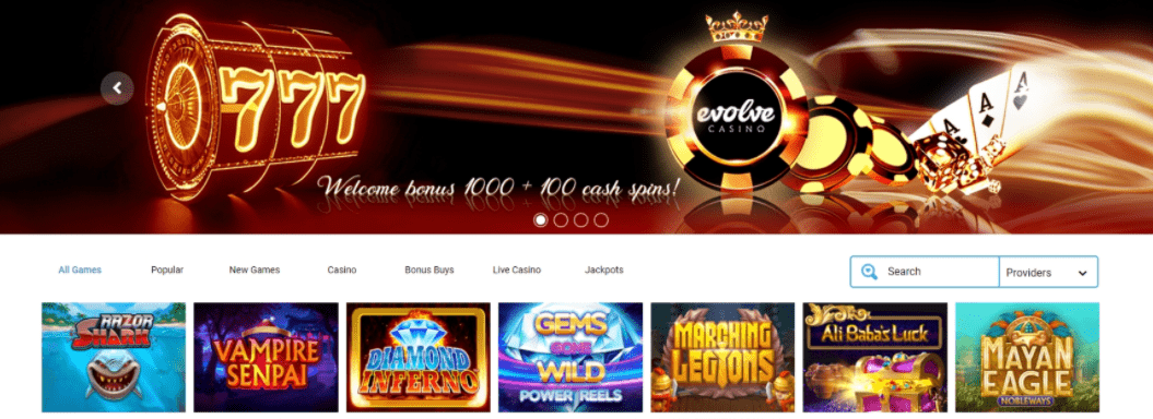evolve casino games