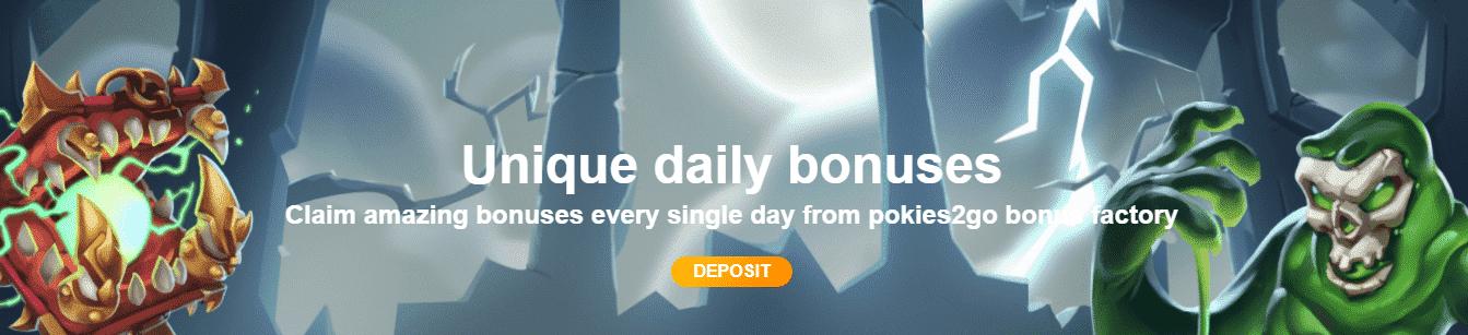 Pokies2go casino bonus code